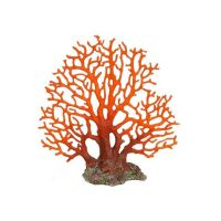 Betta Large Red Sea Fan Coral Aquarium Ornament Fish Tank Aquatic Decoration
